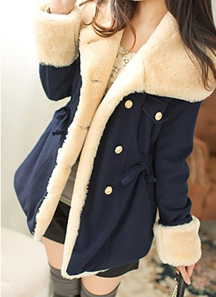 Cotton & Cotton Blend Long Sleeve Hooded Buttons Down Coats Coats & Jackets