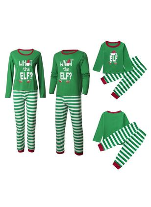 Family Look Alphabet Christmas Long Sleeve Family Outfits (128230206)