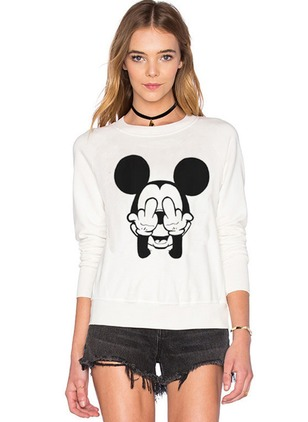 Animal Casual Polyester Round Neckline None Sweatshirts