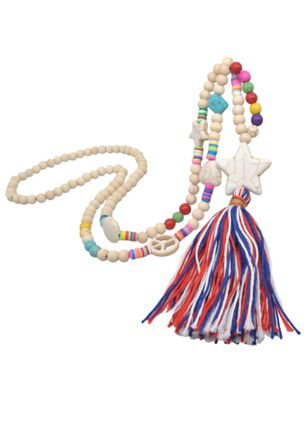 Boho Tassel Heart No Stone Pendant Necklaces (103038419)