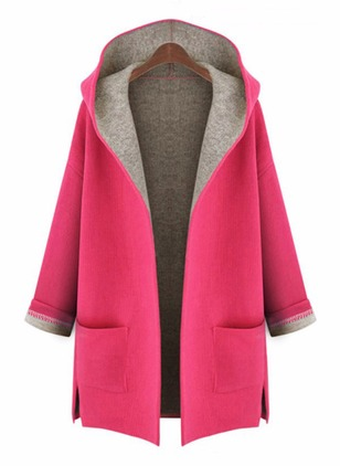 Long Sleeve Hooded Coats