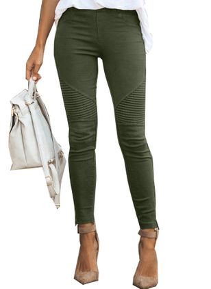 Casual Skinny Middentaille Katoenmix Leggings (1428253)