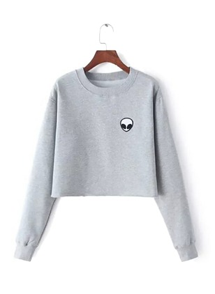 Solid Casual Round Neckline None Sweatshirts