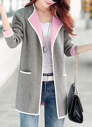 Cotton & Cotton Blend Long Sleeve Collar Coats