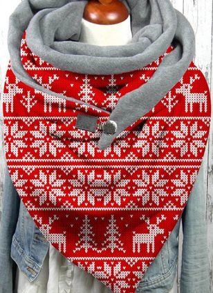 Christmas Geometric Scarves (146654751)