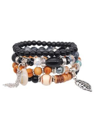 Casual Round No Stone Beaded Bracelets (1521615)