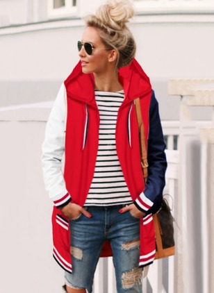 Cotton & Cotton Blend Long Sleeve Hooded Jackets