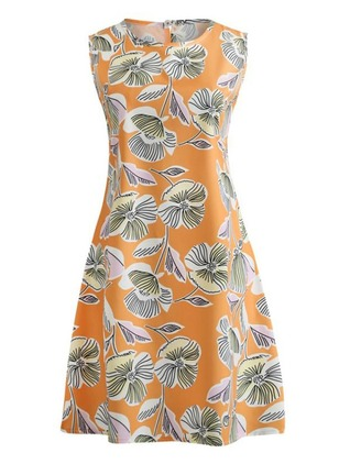 Floral Sleeveless Above Knee Sheath Dress