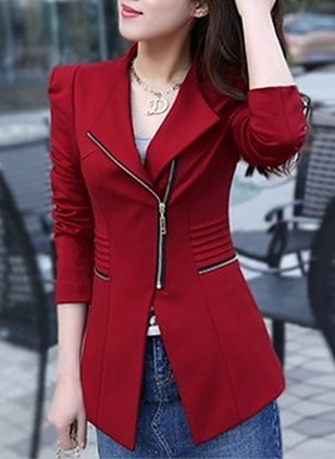 Polyester Long Sleeve Collar Jackets