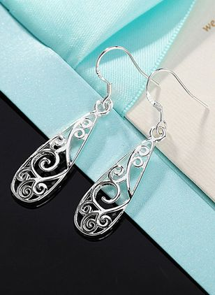 Casual Water Drop No Stone Dangle Earrings (4045733)