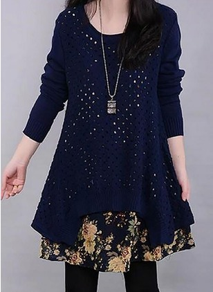 Floral Long Sleeve Shift Dress