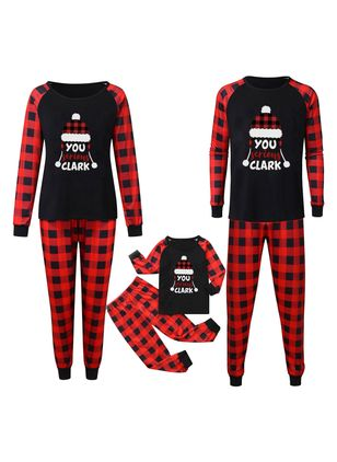 Family Look Alphabet Christmas Long Sleeve Family Outfits (128229463)