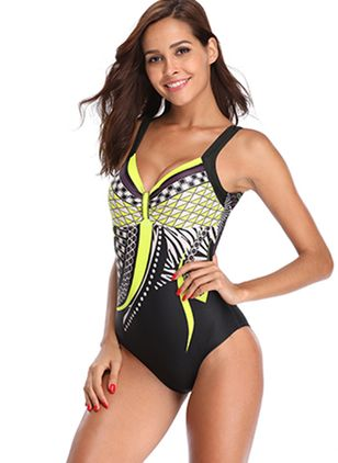 Geometric One-piece Swimwear