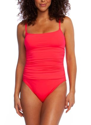 Plus Size Solid One-piece Swimwear