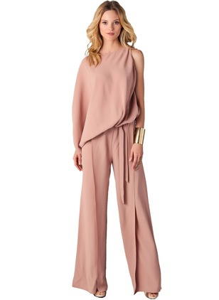 Polyester Solid Long Sleeve Jumpsuits & Rompers