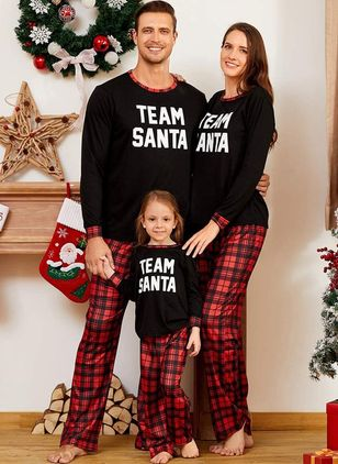 Family Look Alphabet Christmas Long Sleeve Family Outfits (128229450)