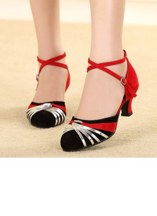 Women's Pumps Pumps Closed Toe Low Heel Suede Shoes