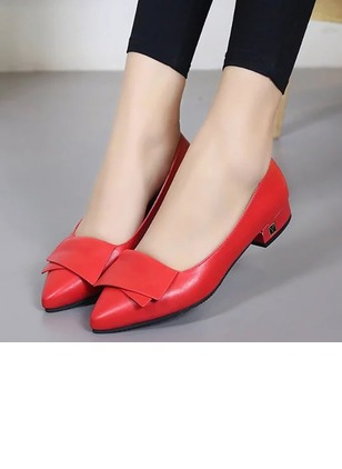 Women's Wedges Closed Toe Low Heel PU Shoes
