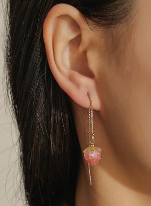 Casual No Stone Dangle Earrings (147243962)