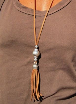 Casual Tassel No Stone Pendant Necklaces (4088913)