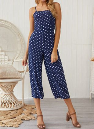 Polka Dot Sleeveless Jumpsuits & Rompers