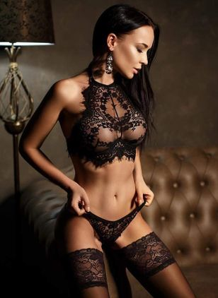 Plain Mesh Lingerie Sets (1398821)