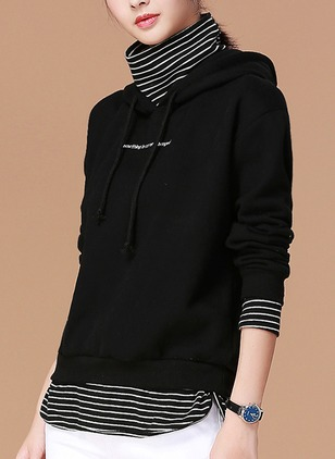 Solid Casual Polyester Hooded Others Sweatshirts