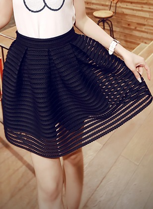 Polyester Solid Above Knee Cute Skirts