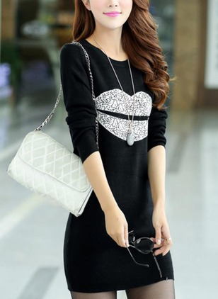 Tshirt Long Sleeve Shift Dress