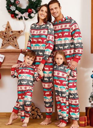Family Look Animal Casual Long Sleeve Family Outfits (146700148)