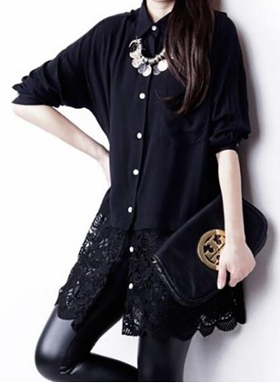 Solid Casual Cotton Collar Short Sleeve Blouses