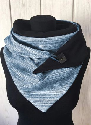 Casual Color Block Scarves (146642704)