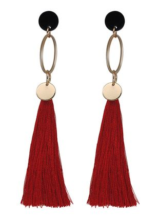 Casual Tassel No Stone Dangle Earrings (147243890)