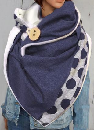 Casual Polka Dot Scarves (146642726)