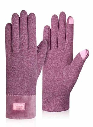 Women's Casual Polyester Gloves & Mittens Windproof Fit Comfort Soft Slim Thick Gloves (146681793)