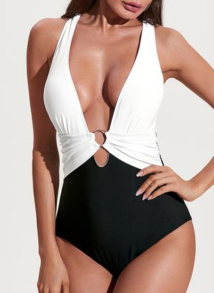 Polyester One-piece Swimwear (1496950)