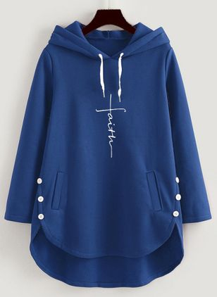 Alphabet Casual Hooded Pockets Buttons Sweatshirts (107562677)