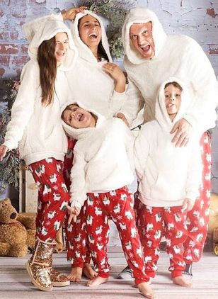 Family Look Animal Christmas Long Sleeve Family Outfits (128229456)