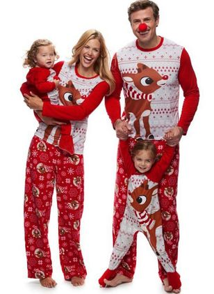Family Look Animal Christmas Long Sleeve Family Outfits (128227818)