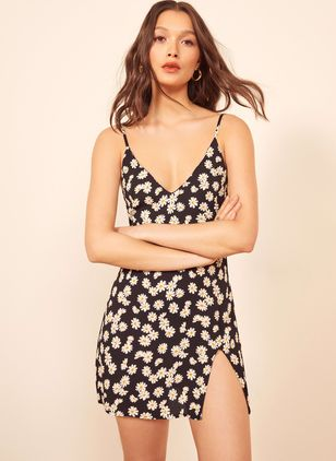 Floral Slip Sleeveless Mini Sheath Dress