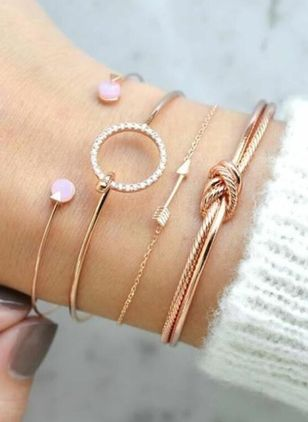 Casual Rond Geen steen Bangle Armbanden (4043194)