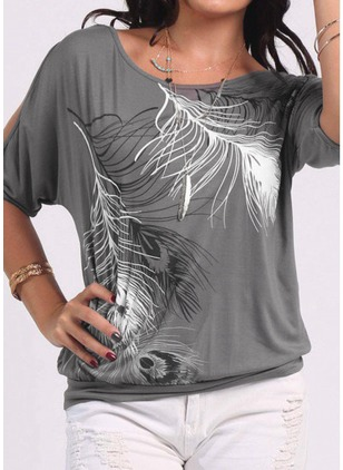 Round Neck Short Sleeve Casual T-shirts