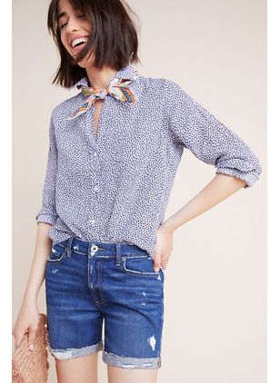 Polka Dot Casual Collar Half Sleeve Blouses