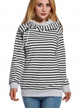 Stripe Casual Spandex Others None Sweatshirts