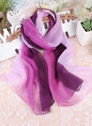 Casual Color Block Scarves (1532340)