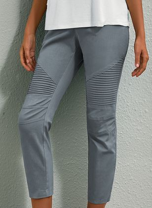 Casual Skinny High Waist Polyester Pants (106821509)