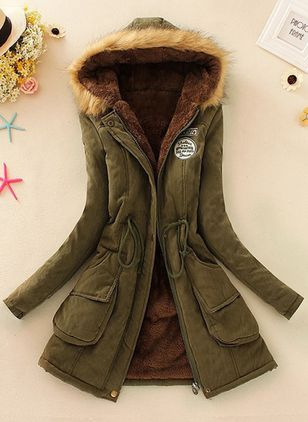 Long Sleeve Hooded Parkas