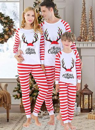 Family Look Alphabet Christmas Long Sleeve Family Outfits (146741946)