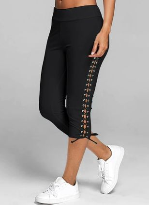 Casual Skinny Mid Waist Polyester Pants (4864686)
