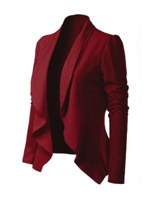 Long Sleeve Lapel Coats (146842046)